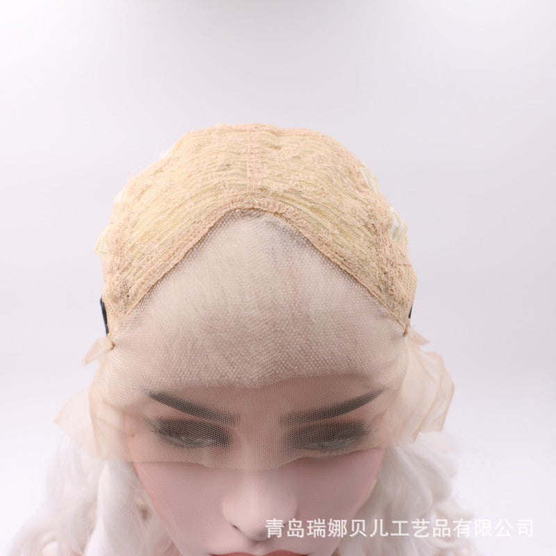 Game of Thrones-Mother of Dragons Front lace wavy white wigs??Last Day Promotion 50% OFF?¨º?/Free Shipping