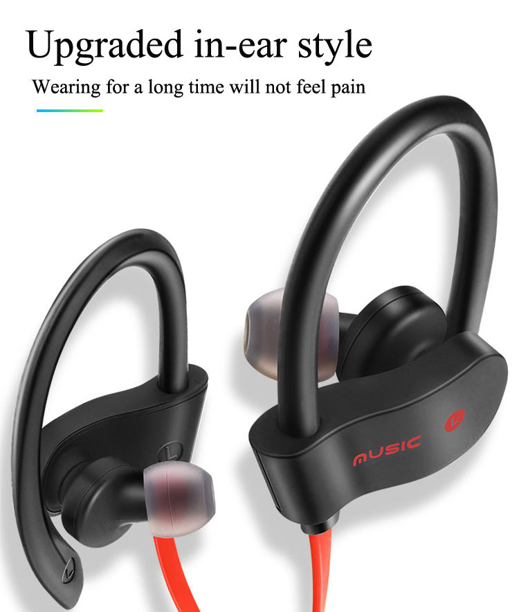 Wireless Bluetooth Headset Headphones Sport Sweatproof Stereo Earbuds Earphone Stereo Earbuds with Earhook/Free Shipping