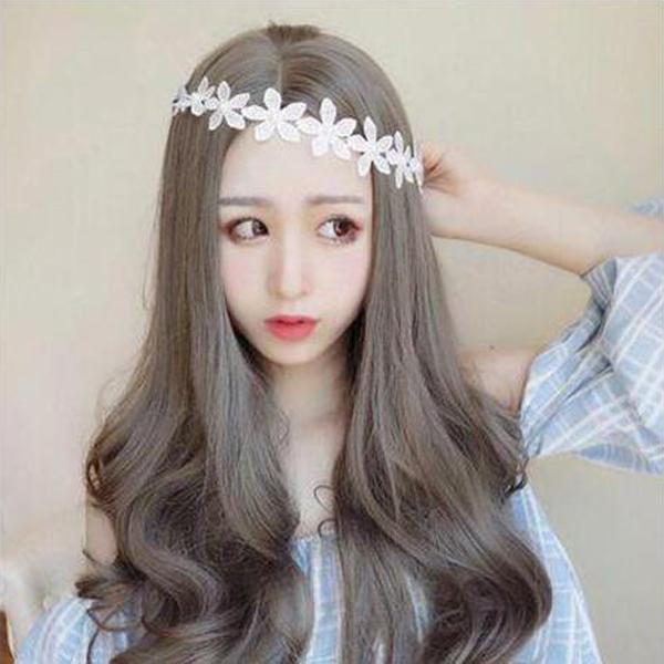 Korean fashion lady long wave hair cute wig/Free Shipping