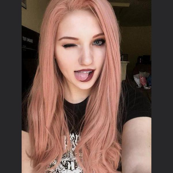 Lala mixed peach pink lace front wig/Free Shipping