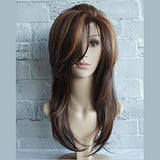 Long Layered Shoulder Length Synthetic Hair Fiber Highlight Multicolor for Women/Free Shipping