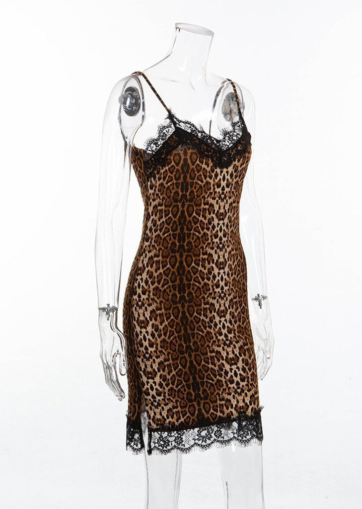 Camisole Lingerie Leopard Print Lace Nighties/Free Shipping