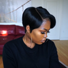 Fox Wigs Lace Frontal Tapered Bob Wigs For Women