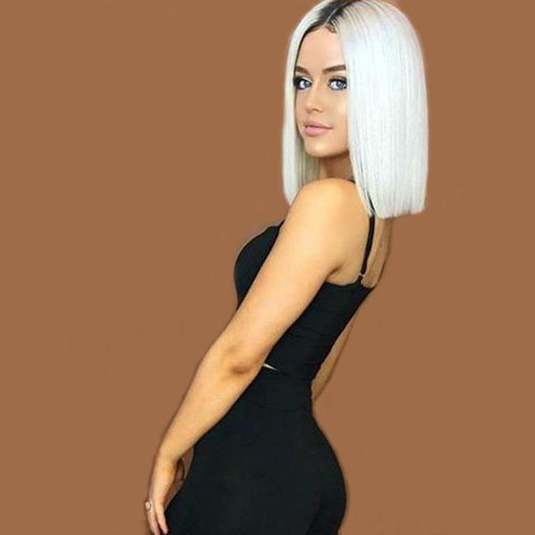 Hot Sales Short Platinum Bob Wig For Women
