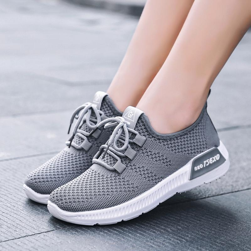 Women's Mesh Casual Sneakers Breathable Non-Slip Soft Bottom Hiking Boots