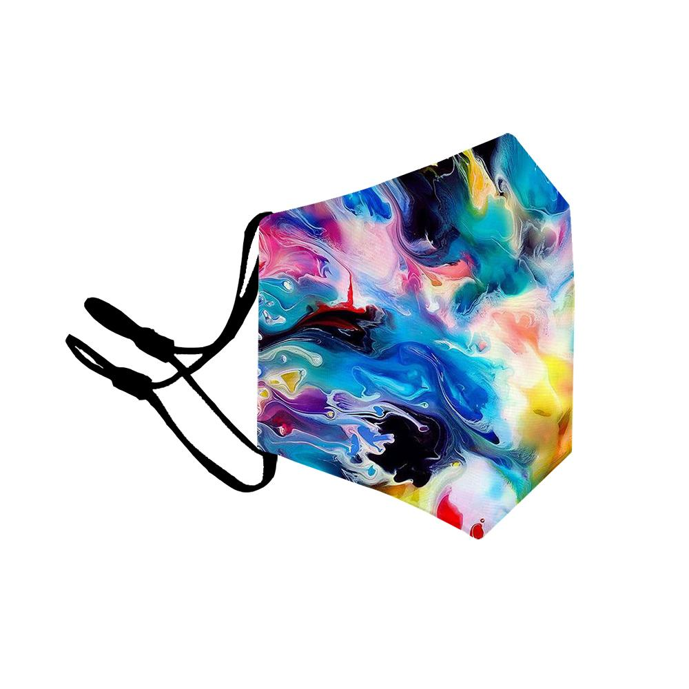 Adults Children  Reusable Abstract Print Omni-Dry Cloth Face Cover