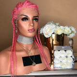 Women Lace Front Wigs New pre-knit pink Yaki wigs Hair/Free Shipping