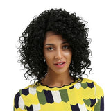Glueless Resistant Lace Front Women Black Curls Hair Full Wig/Free Shipping