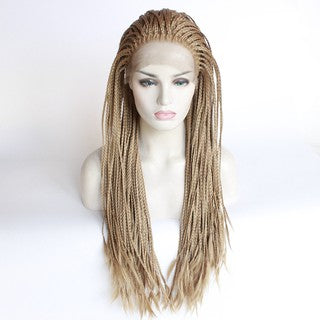 70cm Long Straight Lace Front Wig Heat Fashion Synthetic Hair Middle Part