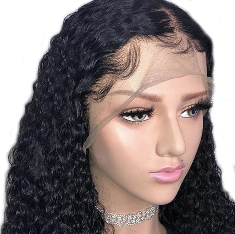 Brazilian Lace Frontal Wig With Baby Hair Curly Virgin Hair Lace Front Wigs 150% Density/Free Shipping