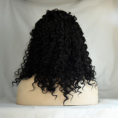 r synthetic lace front wig kinky curly hair heat resistant synthetic fiber hair wigs
