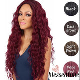 Lace High Temperature Fiber Long Straight Blonde Synthetic Lace Front Wig