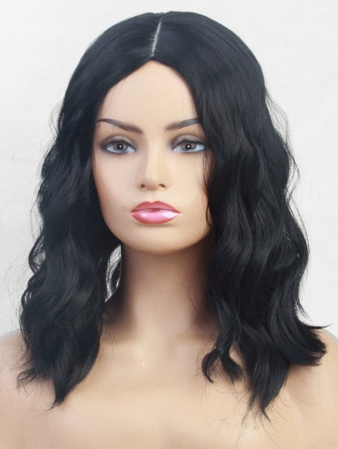 Foxwigs Lace Front Wigs Long Center Part Solid Loose Wave Hair Wig/Free Shipping