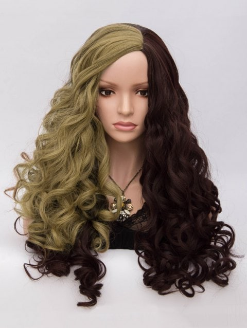 Long Side Parting Loose Wave Colormix Party Synthetic Wig