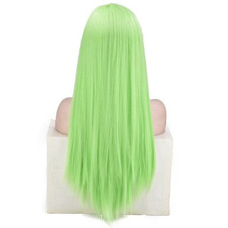 Women's Fashion Front lace Wig Gree Synthetic Hair Long Wigs Wave straight Wig/Free Shipping