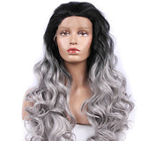 Lace Front Wig Body Wave Style Lace Front Wig Synthetic Hair Women's Wig