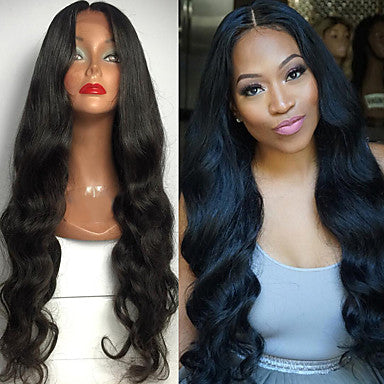 fashion long bouncy soft body wave natural black off heat resistant hair