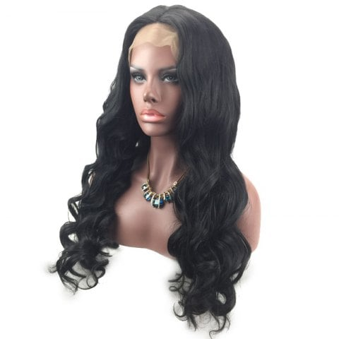 Long Middle Part Wavy Lace Front Synthetic Wig