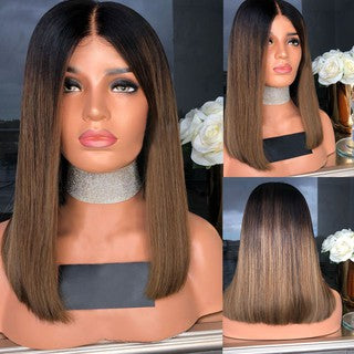 Lace Front Wigs Gradient Wig Synthetic Wigs Natural Straight Hair for Women