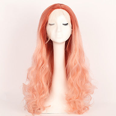 Women's Natural Hairline Pink Wig Long / Very Long OUO Hair Natural Wigs/Free Shipping