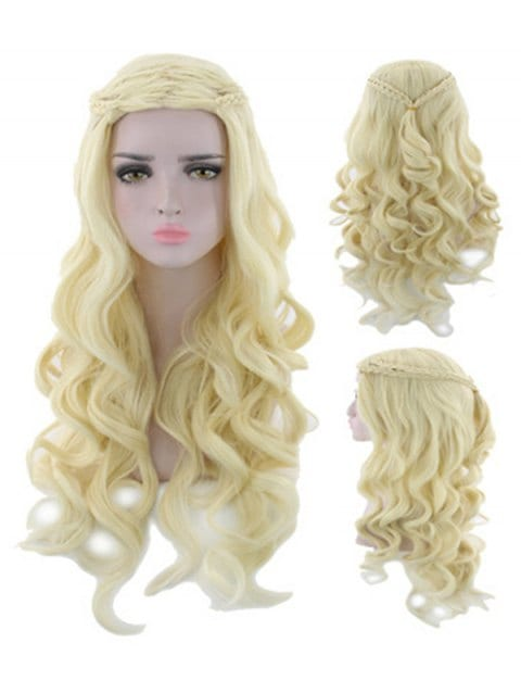 Ladystar Lace Front Wigs Long Braid Body Wave Synthetic Wig