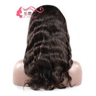 Loose Body Wave Brazilian Human Hair Front Lace Wig/Free Shipping