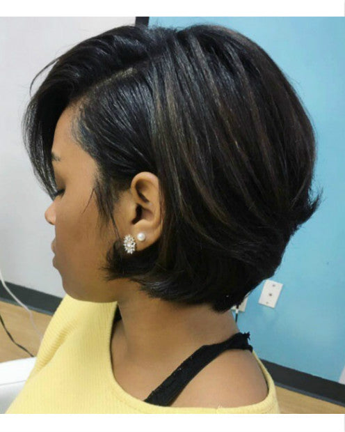 Wigsfox 24  Wavy Wigs For African American Women The Same As The Hairstyle In The Picture