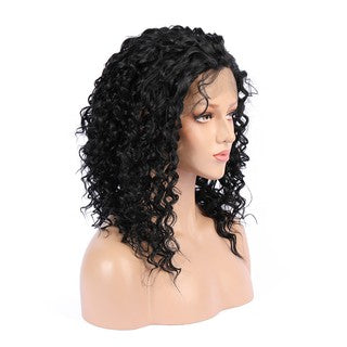 Real Natural Short Lace Front Wigs Women Curly Wavy Synthetic Hair Wig Black/Free Shipping