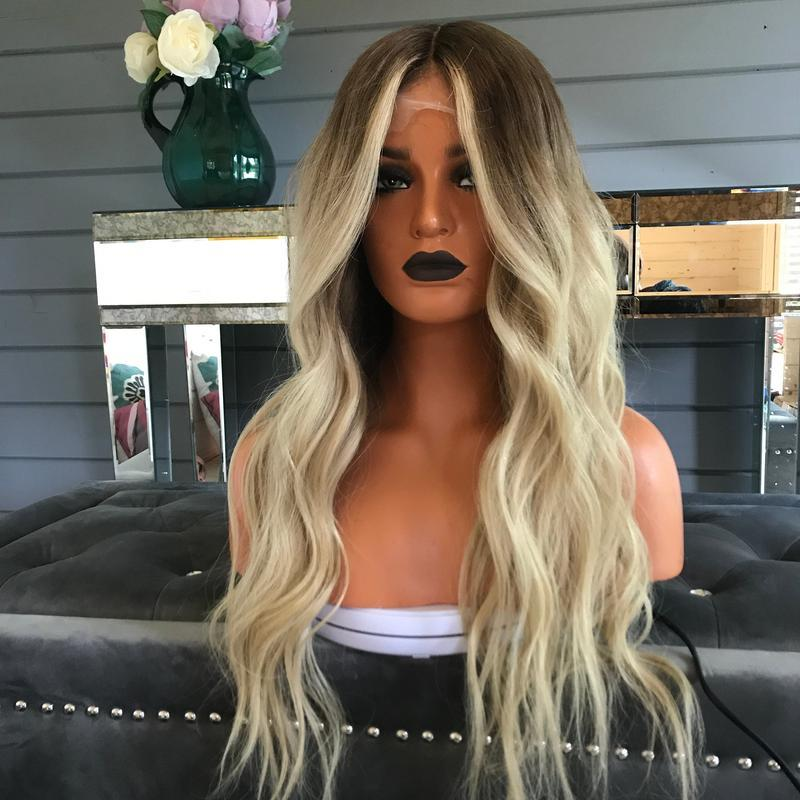 Gradient platinum wig/Free Shipping