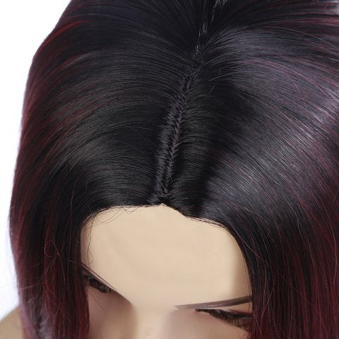 Medium Short Hair Dyed Gradient Wig/Free Shipping