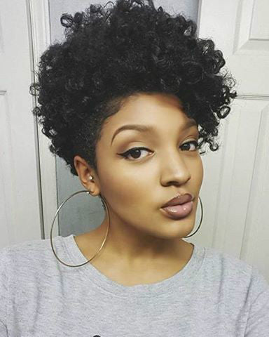 Wigsfox 8  Short Curly Wigs For African American Women The Same As The Hairstyle In The Picture