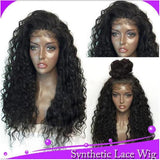 Explosive Wig Water Wavy Free Part Lace Frontal Wigs With High Temperature Synthetic Human Hair Feeling Wigs For Black Women