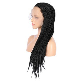 Stant Sythentic Fashion Lace Front Wig Black Wave Hair