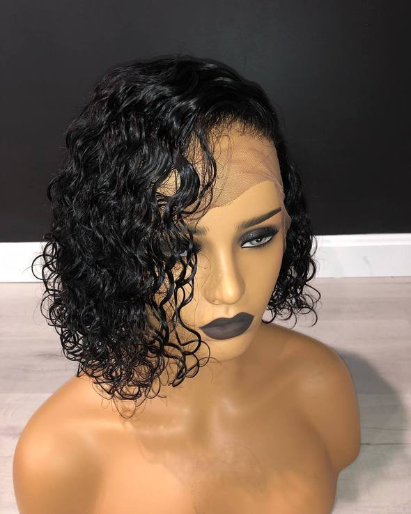 Ladystar Chamingr Lace Front Short Bob Wigs With Human Virgin Hair