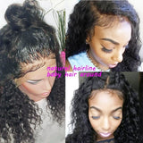 Women Pre Plucked Peruvian Virgin Human Hair 360 Lace Frontal Wigs Wave Full Wig/Free Shipping