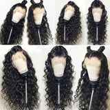 Peruvian Lace Closure Water Wave Lace Front Human Hair Wigs Front Lace Wigs With Baby Hair Pre Plucked Natural Hairline Non Remy/Free Shipping