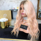Ombre Pink Natural Hair -Lace Front Wigs