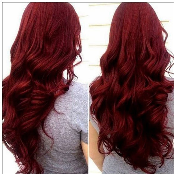 Foxwigs Lace Front Wigs Middle Part Long Ombre Natural Wavy Party Wig