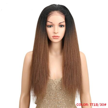 Yaki Lace Wigs With Baby Hair Free Part For Black Women