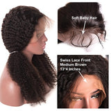 BUYME Glueless Lace Front Wigs African Black Women Long Curly Small Wave Full Wig