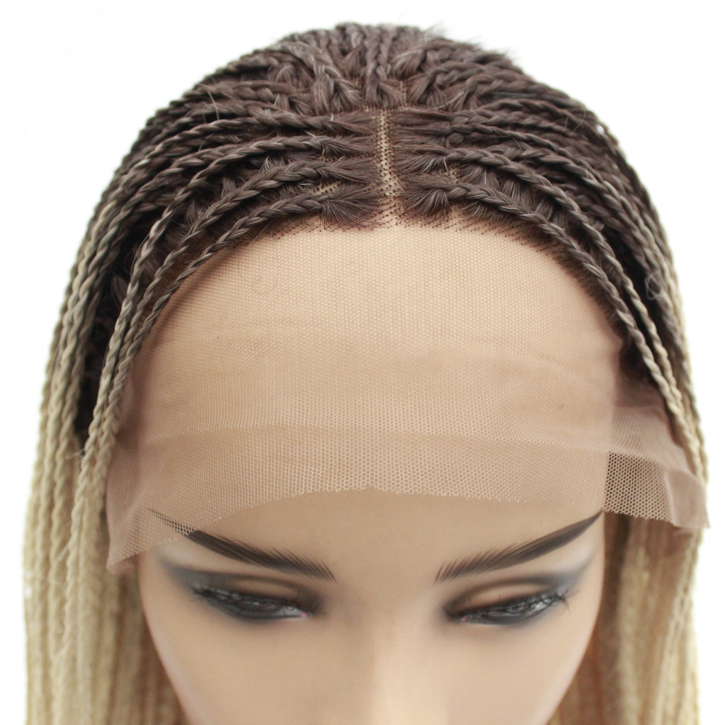 Box Braided Wigs Bob Style Lace Front Wig for Black Women Glueless Medium Leng Braids Wig