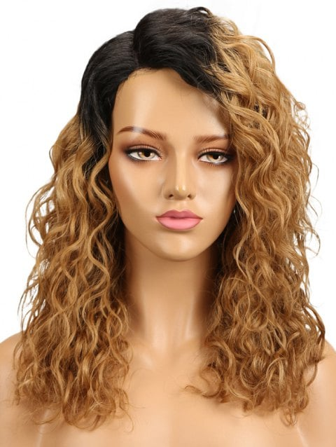 Ladystar Lace Front Wigs Long Colormix Side Parting Wavy Capless Synthetic Wig
