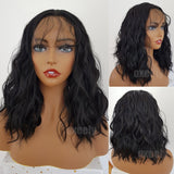 Body Wave Hair Black Color Synthetic Lace Front Wigs for Beauty Women