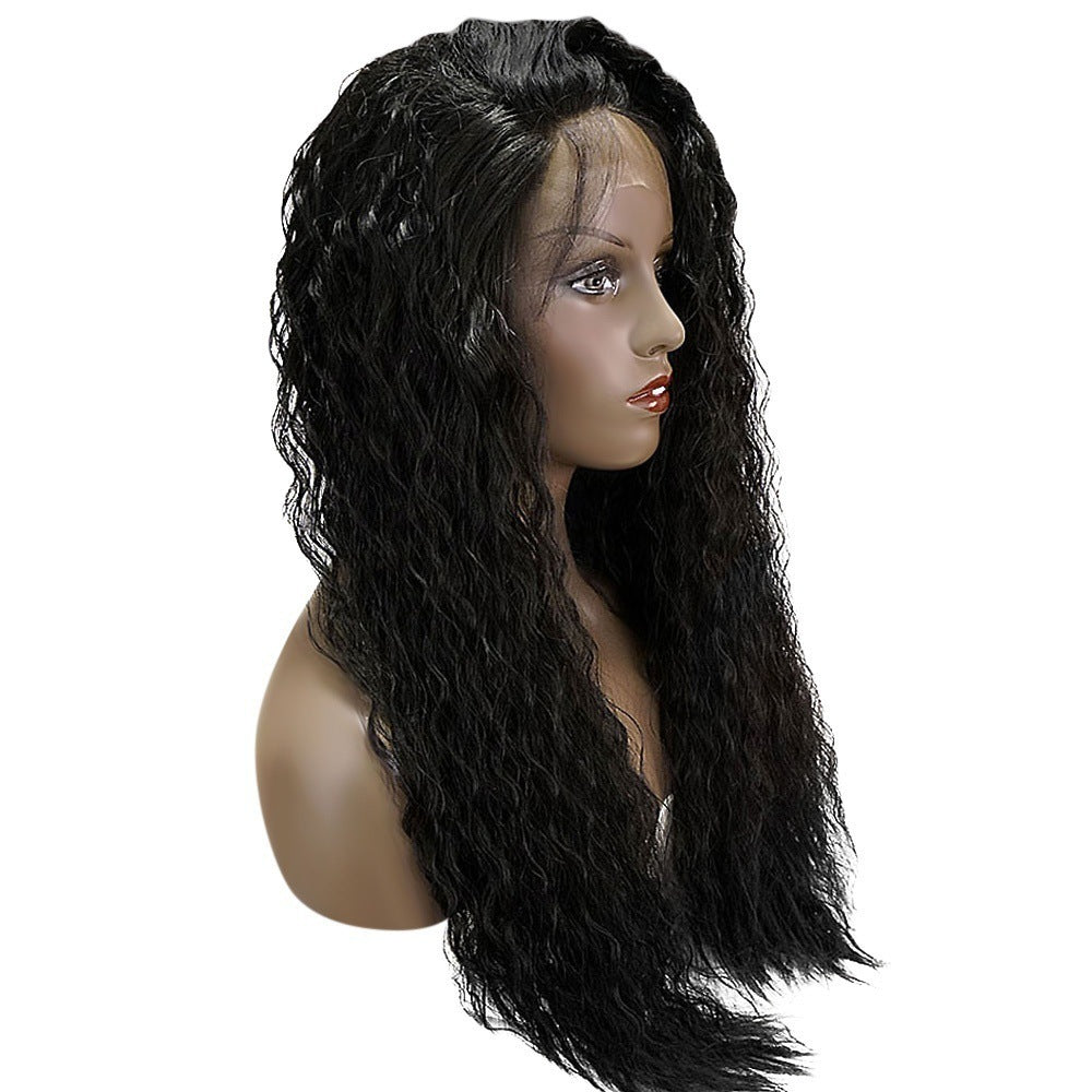 Loose Curly Long Lace Front Wig 180% Density Synthetic Hair Wigs With Baby Hair/Free Shipping