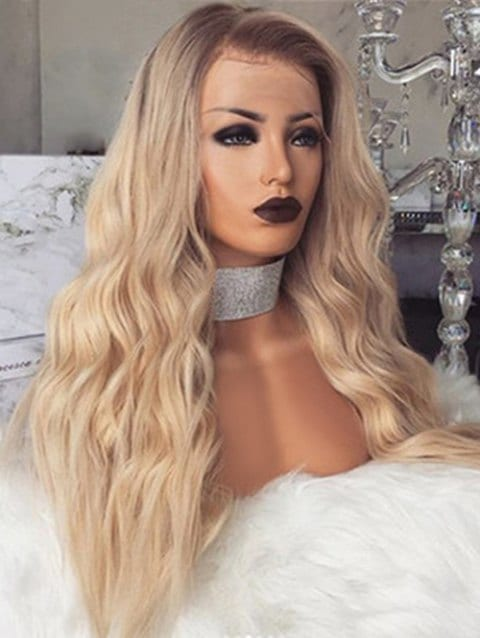 Foxwigs Lace Front Wigs Long Wavy Hair Center Part Wig with Front Lace/Free Shipping