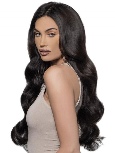 Foxwigs Lace Front Wigs Hair Long Center Part Body Wave Wig