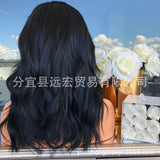 Long Bob Black bleached knot Lace Front Wig/Free Shipping