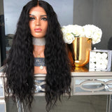 Synthetic Wig Wavy Style Black Natural Lace Front Wig
