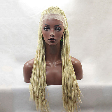 Synthetic Lace Front Wig Straight Blonde Synthetic Hair Natural Hairline / African American Wig/Free Shipping