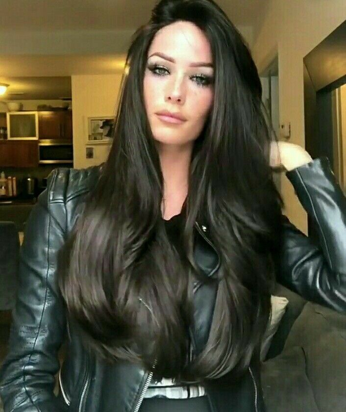 BLACK LONG WAVE WIG/Free Shipping